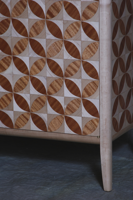 circle credenza finished detail