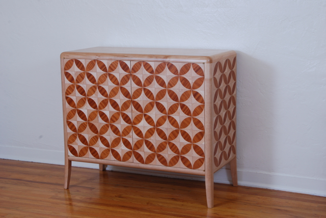 circle parquetry credenza finished