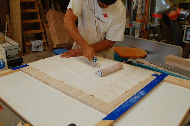 & Making the tambour door credenza