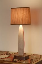 Curly Maple Table Lamp