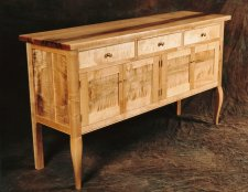 Ernst Curly Maple Sideboard