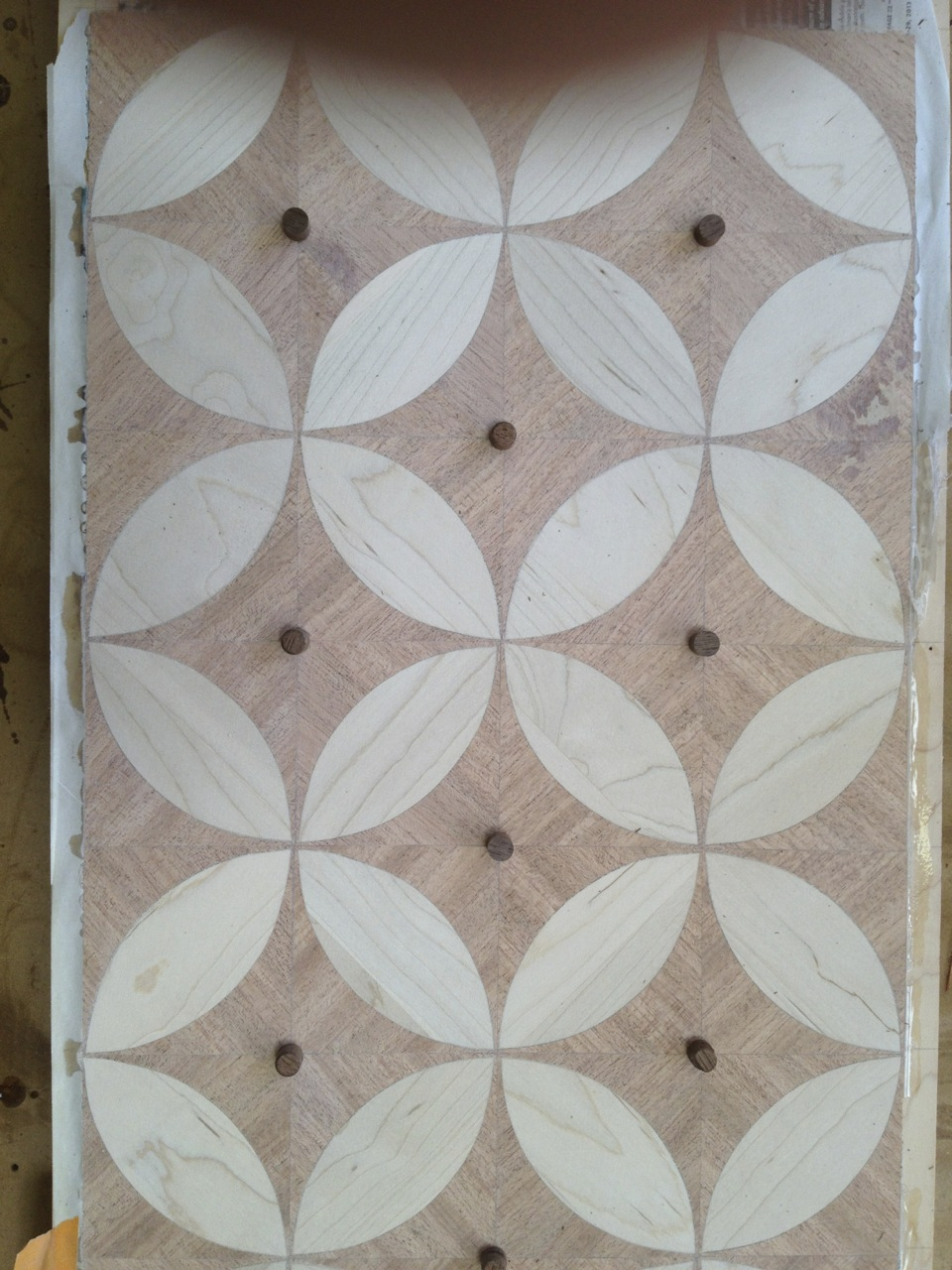 circle parquetry sample
