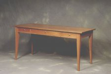 Lines Custom Cherry Desk