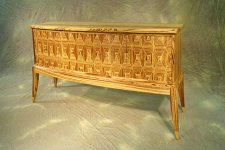 Zebrawood Diamond Sideboard